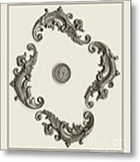 British Shilling Wall Art Metal Print