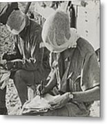 British Soldiers With Their Heads Metal Print