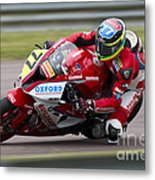 British Superbike Rider Barry Burrell   Metal Print
