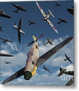 British Supermarine Spitfires Attacking Metal Print