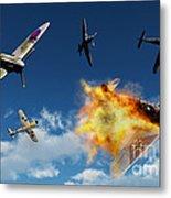 British Supermarine Spitfires Battle Metal Print