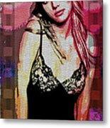 Britney - Pretty In Pink Metal Print