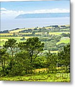 Brittany Landscape With Ocean View Metal Print by Elena Elisseeva