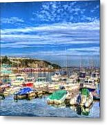 Brixham Marina Devon England Uk On Calm Summer Day With Blue Sky Metal Print