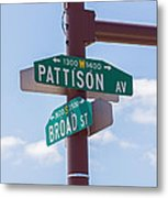 Broad And Pattison Where Philly Sports Happen Metal Print