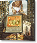Broadway Billboards - New York Art Metal Print