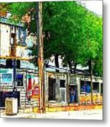Broadway Oyster Bar With A Boost Metal Print