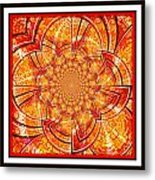 Brocade Abstract Metal Print