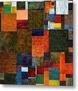 Brocade Color Collage 3.0 Metal Print