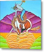 The Cowboy From Darby Metal Print