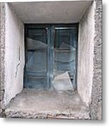 Broken Antique Window Metal Print