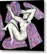 Broken By Stain Glass Metal Print by Laura Brightwood