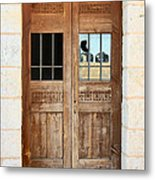 Broken Door Metal Print