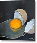 Broken Egg Metal Print