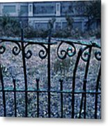 Broken Iron Fence By Old House Metal Print
