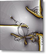 Broken Jewelry-fractal Art Metal Print by Lourry Legarde