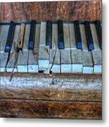 Broken Keys Metal Print