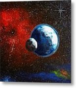 Broken Moon Metal Print
