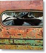 Broken Rear View Window Metal Print