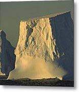 Broken Tabular Icebergs Antarctica Metal Print