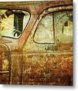 Broken Windshield Metal Print