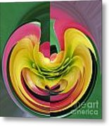 Bromiliad Abstract Metal Print