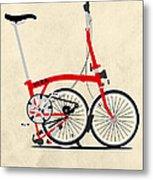 Brompton Bike Metal Print by Andy Scullion
