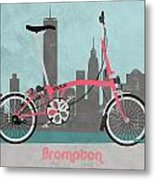 Brompton City Bike Metal Print by Andy Scullion