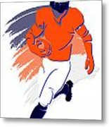 Broncos Shadow Player2 Metal Print