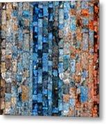 Bronze Blue Wall Metal Print