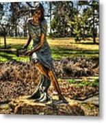 Bronze Girl At Woodward Park Metal Print