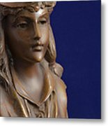Bronze Lady Metal Print