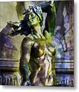 Bronze Nude Metal Print