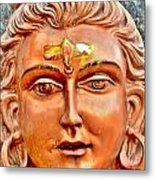 Bronze Shiva Statue - Uttarkashi India Metal Print