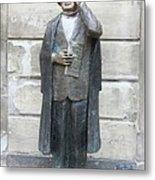 Bronze Statue Stockholm - Evert Taube Metal Print