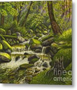 Brook In The Forest Metal Print