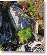 A Brook In The Wicklow Mountains, Ireland Metal Print