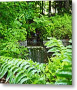 Brook Waterfall Metal Print