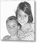 Brooke And Carter Metal Print