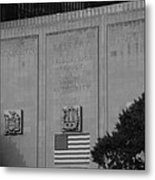 Brooklyn Battery Tunnel In Black And White Metal Print