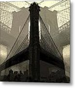 Brooklyn Bridge Abstract Metal Print