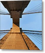 Brooklyn Bridge Abstract Metal Print