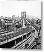 Brooklyn Bridge And Terminal - 1903 Metal Print