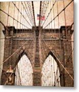 Brooklyn Bridge Approach Metal Print