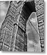 Brooklyn Bridge Arch - Vertical Metal Print