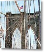 Brooklyn Bridge Cables Metal Print