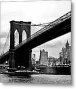 Brooklyn Bridge Circa 1955 Metal Print