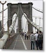 Brooklyn Bridge II Metal Print