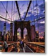 Brooklyn Bridge Evening Metal Print