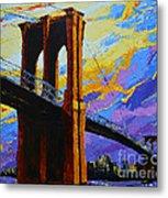 Brooklyn Bridge New York Landmark Metal Print